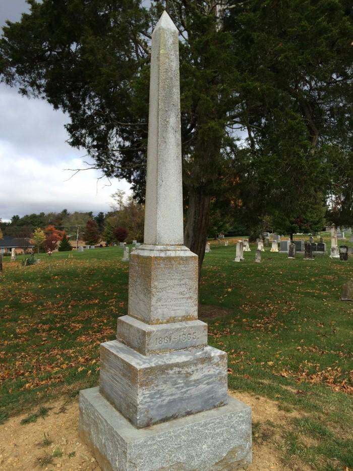 Blacksburg Confederate statue
